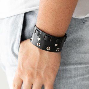 Black Moto Cuff